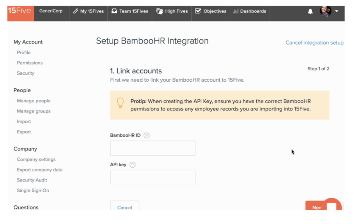 BambooHR Integration