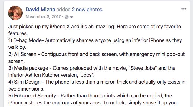 iPhone X Joke